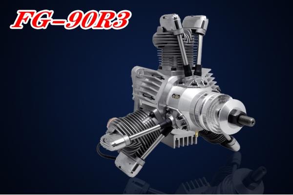 SAITO FG-90R3 90cc 3-Cylinder Gasoline Radial Engine (Global Warehouse)