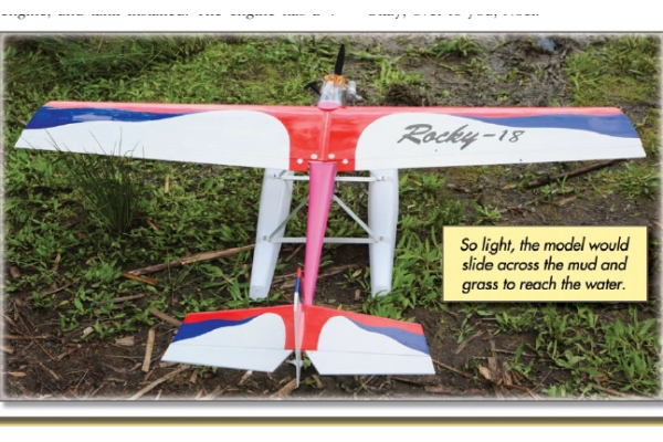 GREEN RC Rocky -18 ARF Version with Floats  (no engine) (AUS Warehouse)