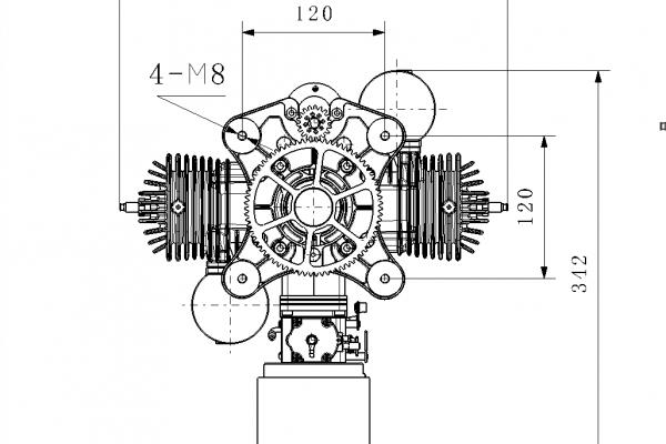UAV 170cc MIL SPEC Engine w/autostarter/airfilter TBO 300-500 Hours (Global Warehouse)