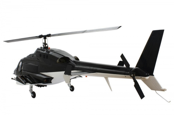 Roban Airwolf 800 size Black Helicopter-ARF w/3x Missiles included (Global Warehouse)