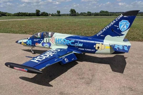 HSD Jets L39 JET CAMO & Navy Blue LIVERY Options TURBINE VERSION PNP W/Ace SW80B Engine GST Inc (AUS Warehouse)