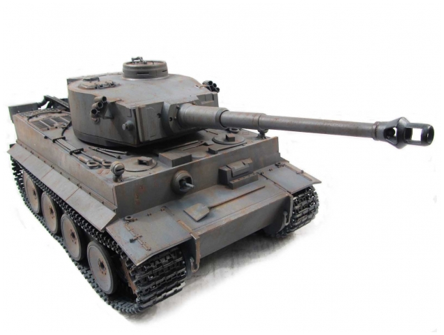 Mato 1:16 Complete 100% Metal Tiger 1 Tank (BB / Recoil , Hand Painted:Grey, RTR) (Global Warehouse)
