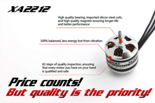 EMAX outrunner motors Motor Accessories  XA2212 820KV/980KV/1400KV (Global Warehouse)
